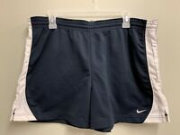 Nike Women's Athletic Shorts Size XL Navy Blue/White