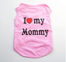 Spring Summer Pet Dog T-Shirt I Love Daddy Small Dog Clothes for Small Dog Boys