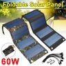 60W Folding Solar Mat Flexible Blanket Solar Panel Kit Camping Charger 10 in1USB
