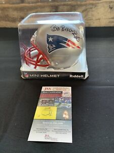 BILL BELICHICK Autographed NEW ENGLAND PATRIOTS Mini Helmet w/JSA AUTHENTICATION