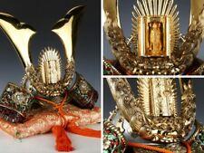 Japanese Samurai Helmet -Buddhism Kabuto- with a cushion Super Rare!
