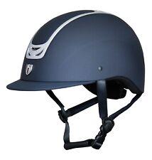 Royal Helmet 9502 - Traditional Brim - Matte Navy / Brush Chrome Trim (S/M/L)