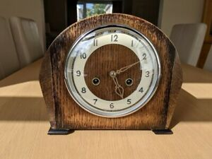 1952 Smiths Enfield mantle clock, great condition and working, see video