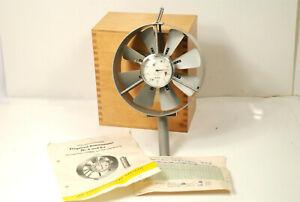 Großes Flügelrad-Anemometer, Windmesser, mit Schaltuhr, Anemometerbau Dresden