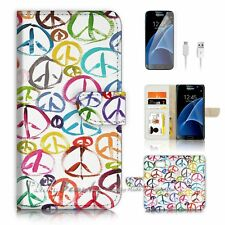 ( For Samsung S7 ) Wallet Case Cover P2940 Peace