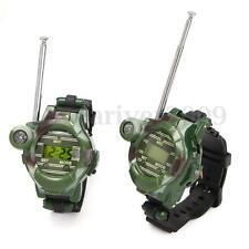 2PCS Children Kids Gifts Toy Way Radio Walkie Talkie Wrist Watch Interphone 150M