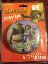 Shrek 2 Coasters With Tin Sealed In Package 2004
