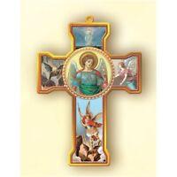 Saint Michael the Archangel Wooden Wall Cross, 6 Inch