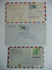 Covers - Korea, Three 1950's Air covers, two with Scott C11, one with Scott 264