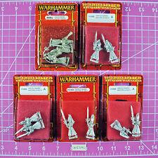 Warhammer High Elf Sword Masters of Hoeth (5 Packs including Command!) Metal OOP