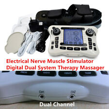 TENS 2 Output Electrical Nerve Muscle Stimulator Digital Massager Physiotherapy