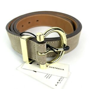 RM Williams Womens Suede Cowhide Leather Hip Belt Size 36 Made In Australia