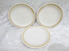"Bristile / Wembley ware - 3 Side Plates vgc  (6"")  brown geometric pattern 1 a/f"