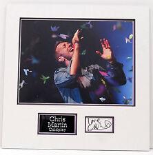 Chris Martin Genuine Hand Signed Photo Mount Display COLDPLAY COA (B)