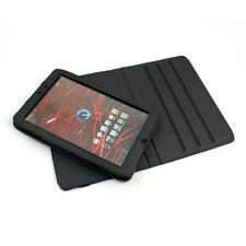 "Black Motorola Xoom 2 Android Tablet 10.1""PU Leather 360 Rotational Texture Case"