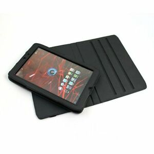 "Black Motorola Xoom 2 Android Tablet 10.1""PU Leather 360 Rotational Texture Case"