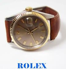 Vintage S/Steel & 18k ROLEX DATEJUST Automatic Watch c.1966 Ref.1601 EXLNT