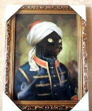 "Hermitage cats. Bombay cat ""Klaus"". Art Reproduction Antique Gold Framed New"