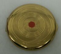 Vintage Coty Air Spun Powder Makeup Compact with Red Dot & Puff - Excellent!