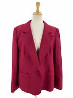 Vintage Pendleton Women's Red 100% Wool 1-Button Blazer/Jacket • Plus Size 16W