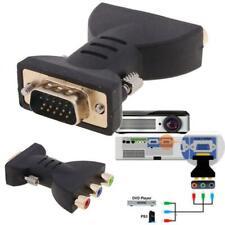 VGA to AV Adapter VGA to 3RCA Plug Converter Component Video Jack Connector
