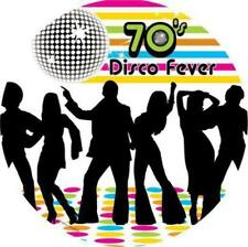 NOVELTY 70s Seventies Disco Fever 12 STANDUPS Edible Image Cake Toppers Party