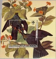 Burkina Faso Burkina Faso 1998 Block 178-79 1106-07 Singing Birds Vögel Fauna Singvögel Mnh