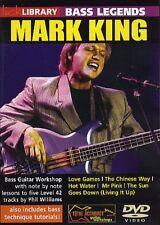 BASS GUITAR LEGENDS LICK LIBRARY DVD MARK KING LEVEL 42