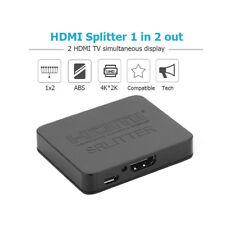 HDMI 1 in 2 out 1080p 4K 1x2 HDCP Stripper 3D Splitter Power Signal Transmit Gra