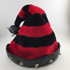Ugly Christmas In July Evil Gothic Santa Hat Black Red Spikes Mace Spencers Gift