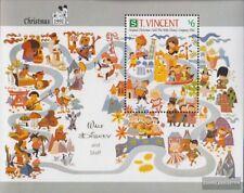St. Vincent Block196 (kompl.Ausg.) postfrisch 1991 Weihnachtskarten Walt-Disney