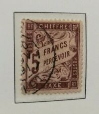 SUPERBE TIMBRE TAXE N°27 OBLITERE - FRANCE - COTE: 475€!