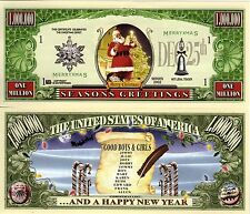 Santa's Good Boys & Girls List  Million Dollar Novelty Money