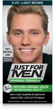 Just For Men Mens Shampoo Hair Colour Color Wash in Dye Light Brown H25