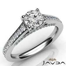 1.2ctw Classic 4 Prong Round Diamond Engagement Ring GIA E-VS1 White Gold Rings