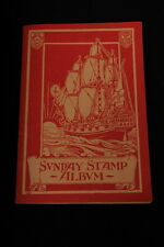ANTIQUE Sunday Stamp Album for Church Year 1931-1932 c/w 50 stamps