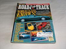Road & track 1994 CAR TRUCK REVISTAS Ferrari Lamborghini Bugatti PORSCHE Viper