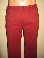 Nuevo Rojo Ralph Lauren Polo Classic Fit Pierna Recta Chino Pantalones Cintura 30 32 LG