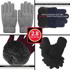 Ladies Warm Thermal Winter Gloves Cosy Teddy fleece Liner 2.8 TOG Insulation