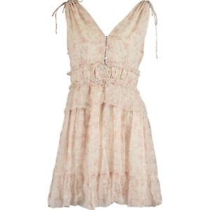 Allsaints Annie Lanai Dress UK 14 Boho Summer Pastel Romantic Tiered RRP 168
