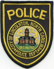 LINCOLNTON NORTH CAROLINA NC POLICE PATCH