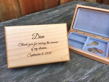 Father of the Bride Personalized Son In Law Gift Wedding Parents Valet Box