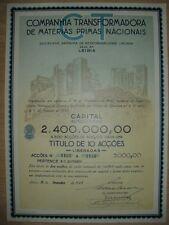 Companhia Transformadora de Materias Primas Nacionaus  1943   Hochdeko