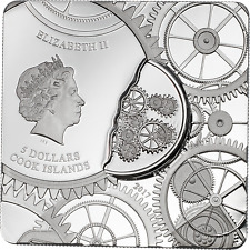 2017 $5 Cook Islands - TIME CAPSULE 1oz .999  Silver Coin