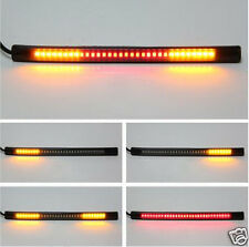 2x48SMD Universal Motorcycle LED Strip Light Brake Tail Turning Signal Lamp Blub
