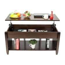 Lift Top Living Room Furniture End/Coffee Table/Hidden Compartment - Brown