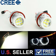2x 60W High Power CREE BMW E39 E60 E53 E63 LED Angel Eyes Halo Ring Light Bulbs