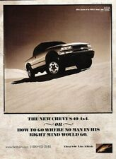 1998 Chevrolet S-10 Pickup Truck Original Advertisement Print Art Car Ad D57