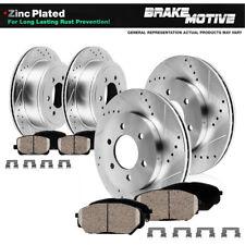 Front+Rear Drill Slot Brake Rotors & Ceramic Pads For 2009 Ford F150 6 Lug Base