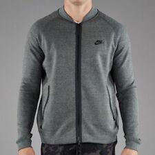 Nike Tech Fleece Varsity Zip Jacket Tumbled Grey Heather Black 678508-037 Medium